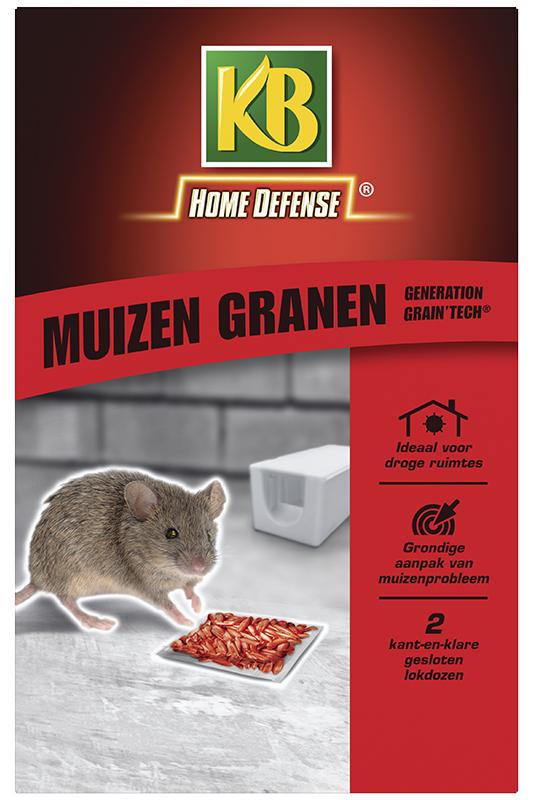 KB muizen granen (rood) met Lokstation