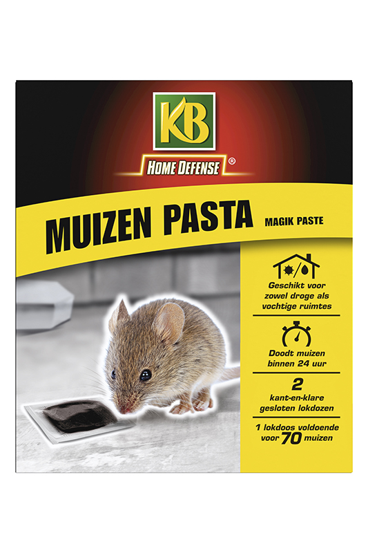 KB muizen pasta (zwart) met lokstation
