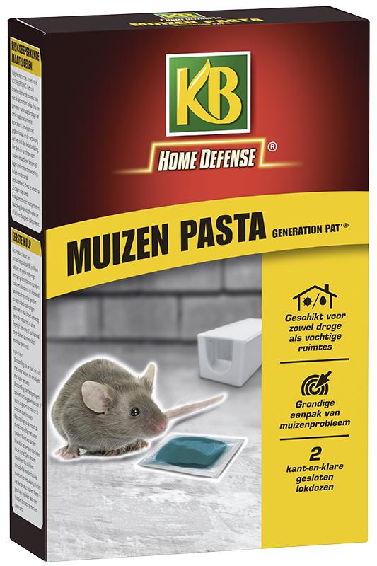Kb muizen pasta (blauw) met lokstation