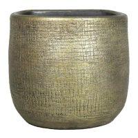 Muurpot mira D16 H14cm industrieel goud