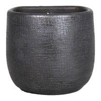 Muurpot mira D16 H14cm industrieel zwart
