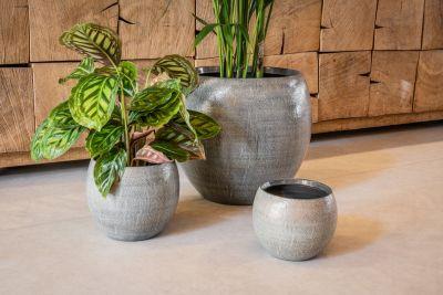 Pot Ayla grey brush D17 H13