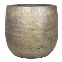 Pot Mira D16 H14cm industrieel goud