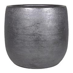 Pot Mira D24 H22cm industrieel zwart