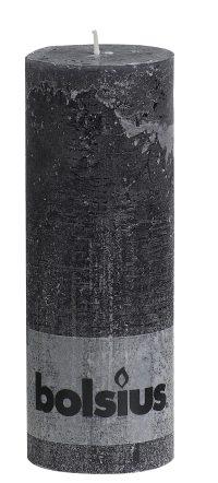 Rustiek stomp 19x7cm antraciet