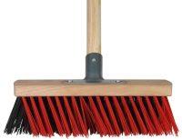 X-bezem buiten 30 cm rood/zwart compleet