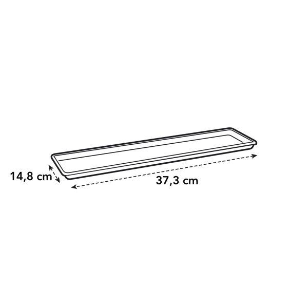 G b balkonschotel 40cm. liv. black