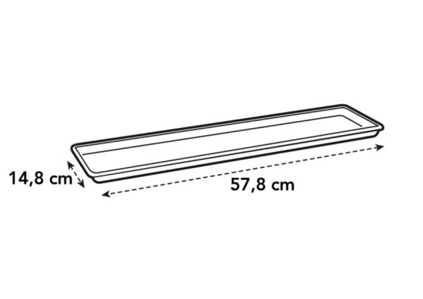 G b balkonschotel 60cm. bladgroen