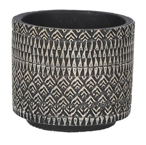 Kjeld pot rond zwart - h11xd12,5cm