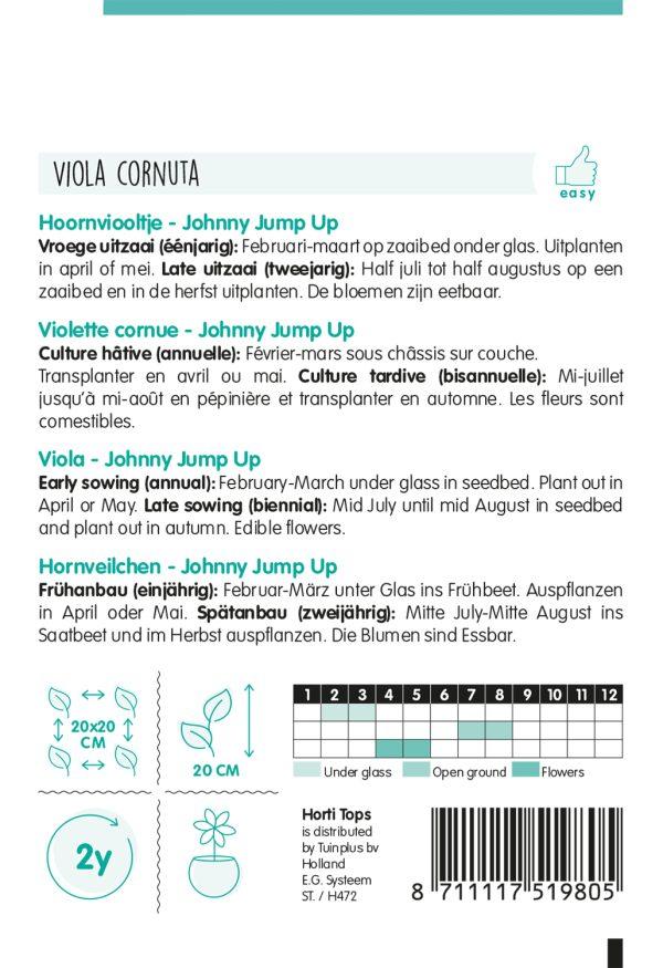 HT Viola, Hoornviooltje Johnny Jump Up