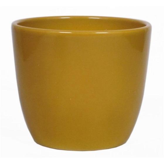 Pot Boule okergeel D8.5 H6.5